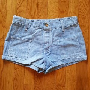 Vintage 70's High Waist Patch Pocket Jeans Shorts